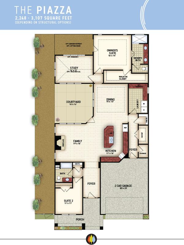 NewStyleCommunities | Piazza Model - Floorplan Image