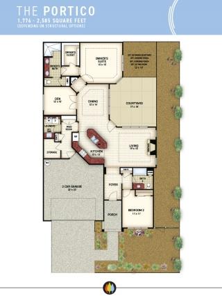 NewStyleCommunities | Portico Model - Floorplan Image