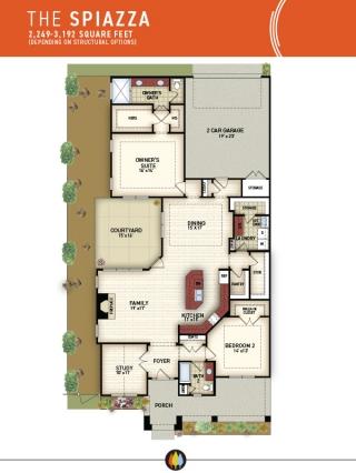 NewStyleCommunities | Spiazza Model - Floorplan Image