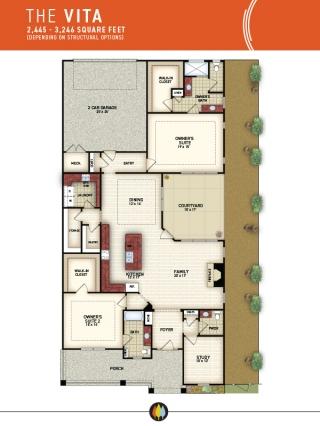NewStyleCommunities   Vita Model - Floorplan Image