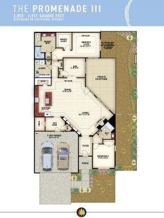 NewStyle Communities | Promenade III Model - Floorplan Image