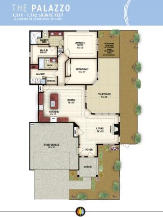 NewStyleCommunities Model Palazzo Floorplan Header Image