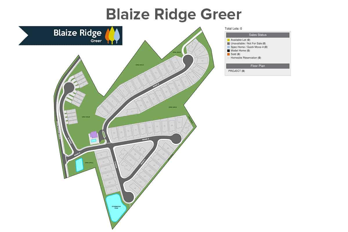 NewStyle Communities Blaize Ridge Site Map